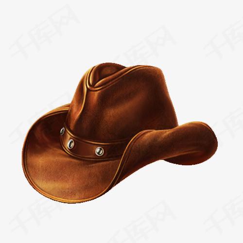写实西部牛仔帽子
