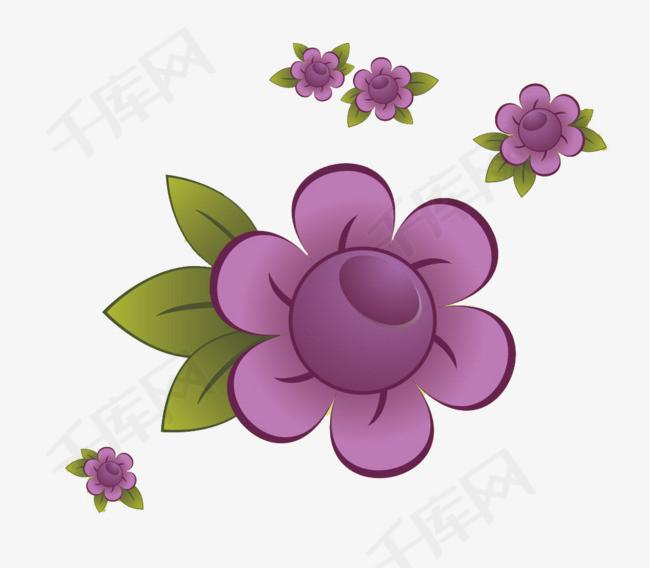 紫色花朵设计