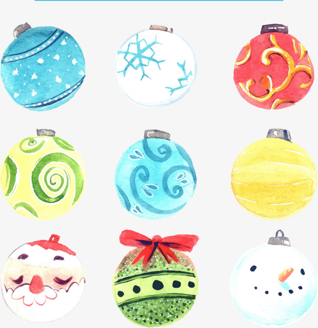 彩绘圣诞球