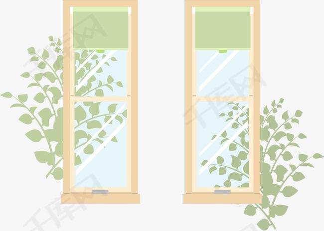 矢量手绘窗户