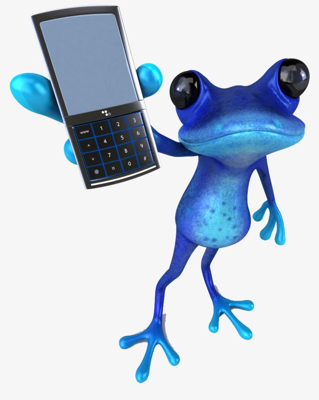 创意蛤蟆玩手机