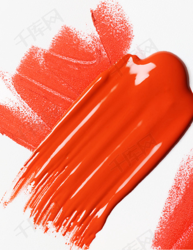 红色化妆品元素