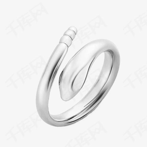蒂芙尼纯银蛇形戒指