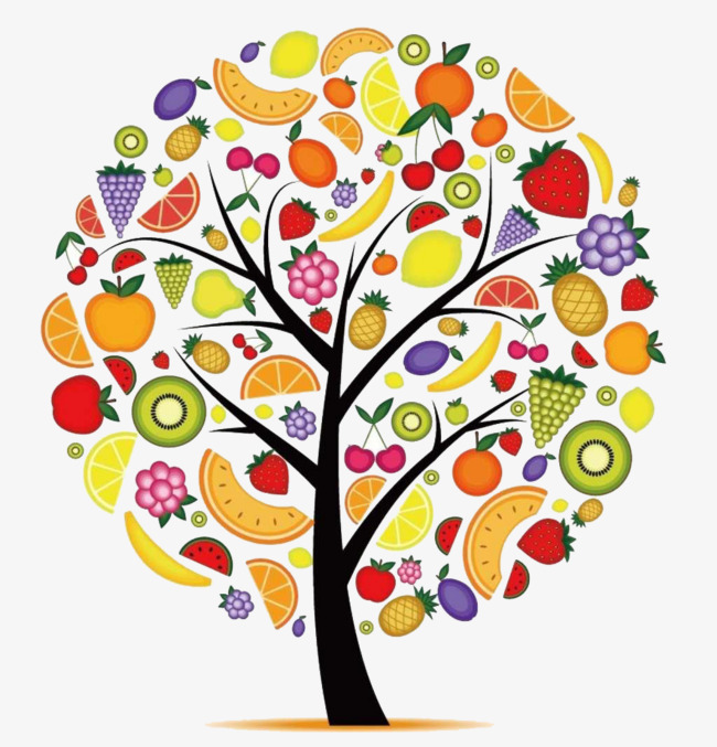 简笔画水果之树