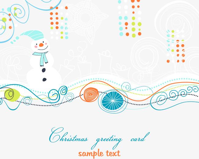 圣诞节可爱插画矢量