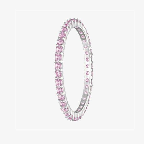 施华洛世奇粉色满钻戒指