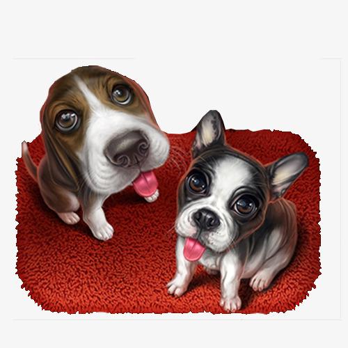 两只可爱的狗