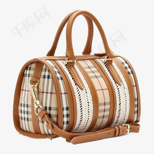 格子女士手提包