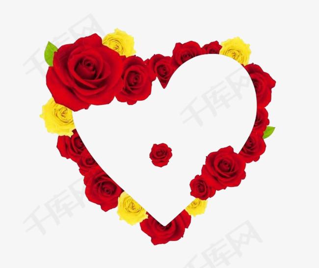 玫瑰装饰爱心