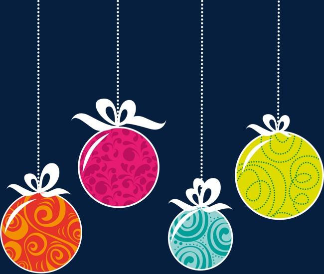 彩色圣诞装饰