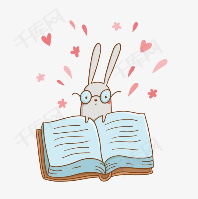 矢量眼镜兔