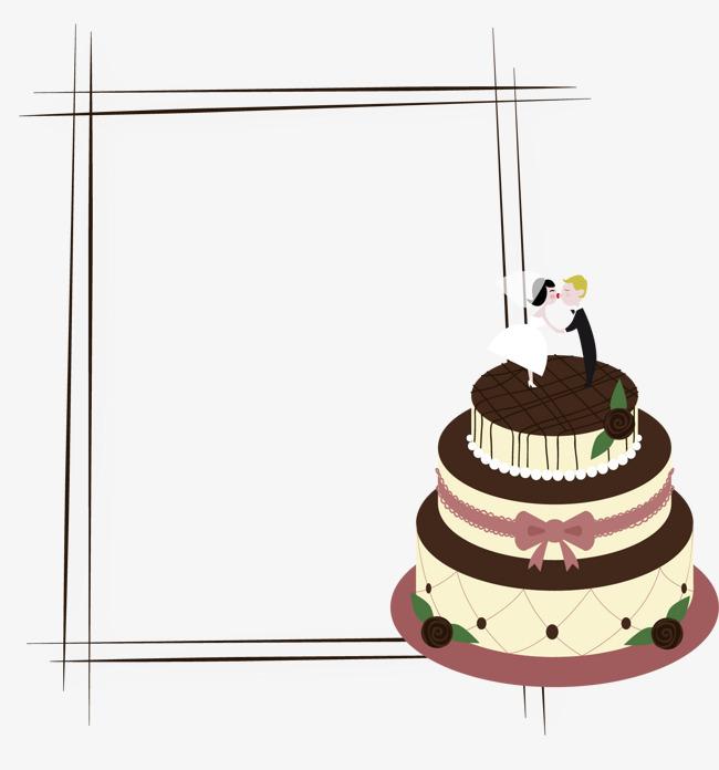 矢量生日蛋糕边框
