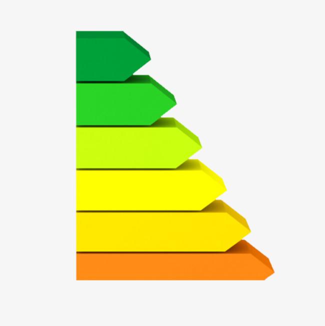 彩色立体箭头png素材-90设计