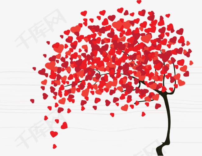 爱心装饰小树