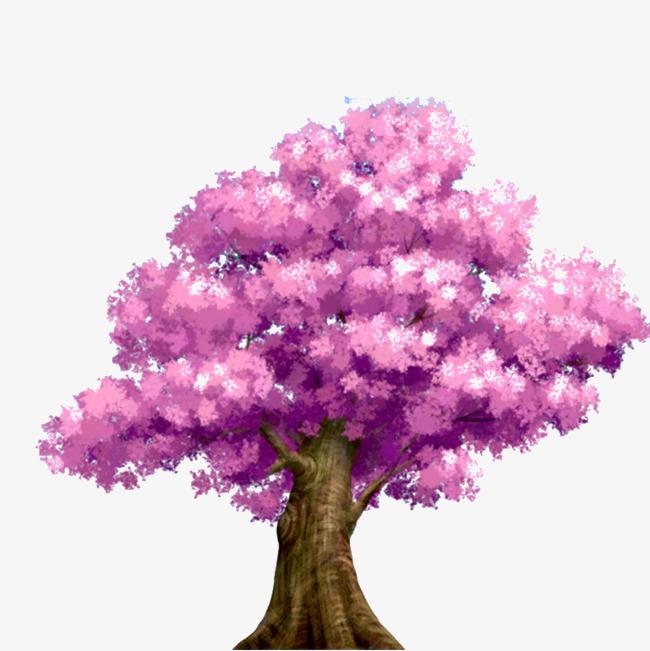 唯美手绘樱花树