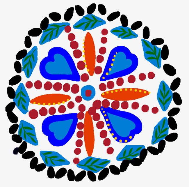 韩式色彩图样花
