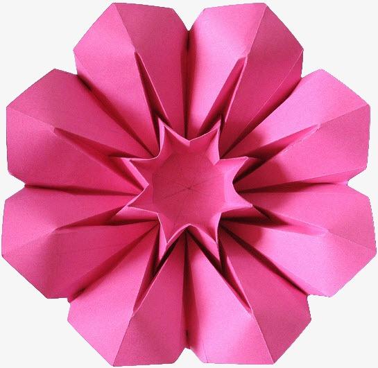 红色花朵折纸