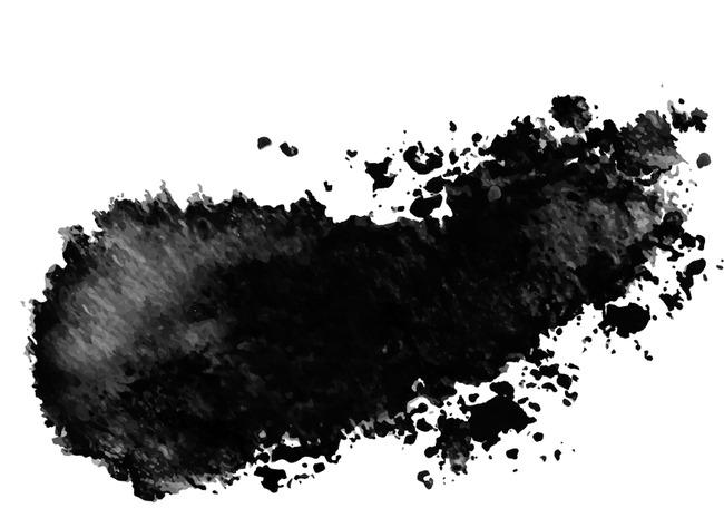 黑色古风泼墨毛笔
