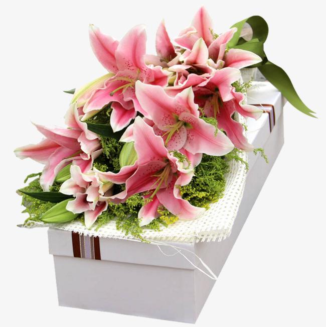 百合花花束礼盒图片