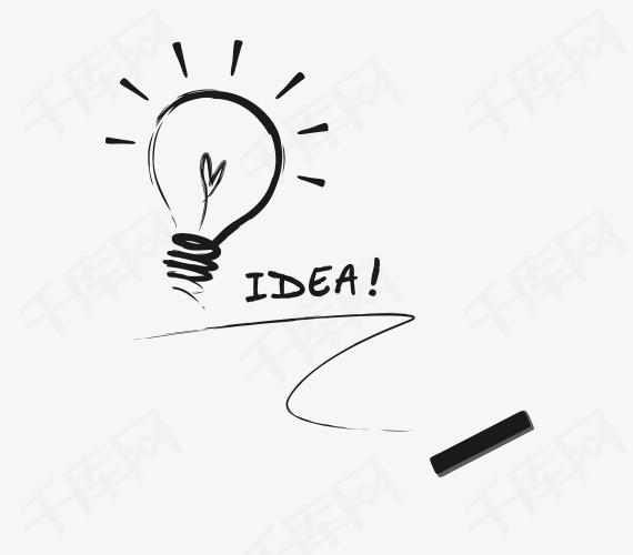 手绘灯泡素材图片免费下载 高清装饰图案png 千库网 图片编号5310621