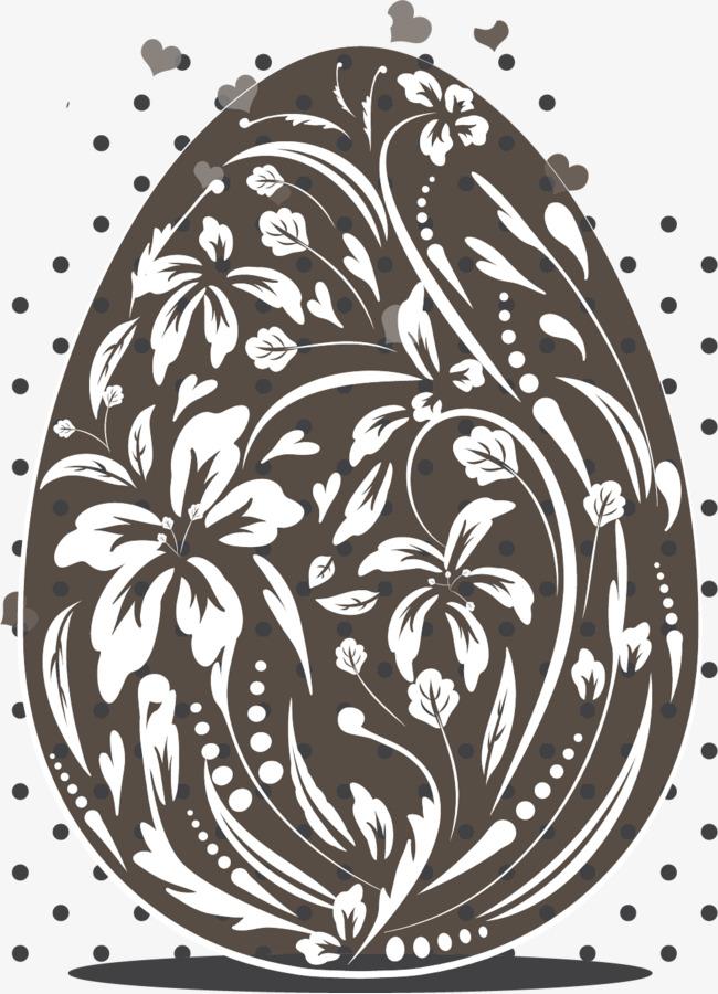 矢量手绘花纹彩蛋素材图片免费下载 高清装饰图案psd 千库网 图片编号5354419