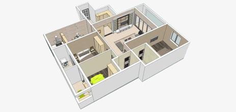 房屋立体图png素材-90设计