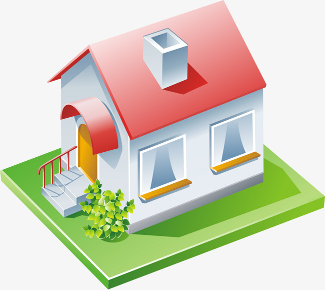 立体房屋【高清装饰元素png素材】-90设计图片