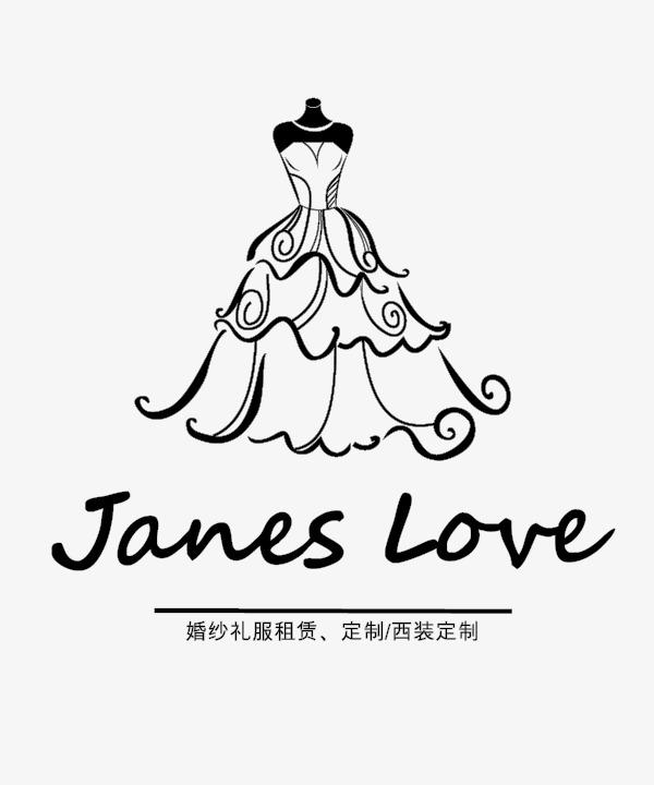 婚纱礼服logo矢量