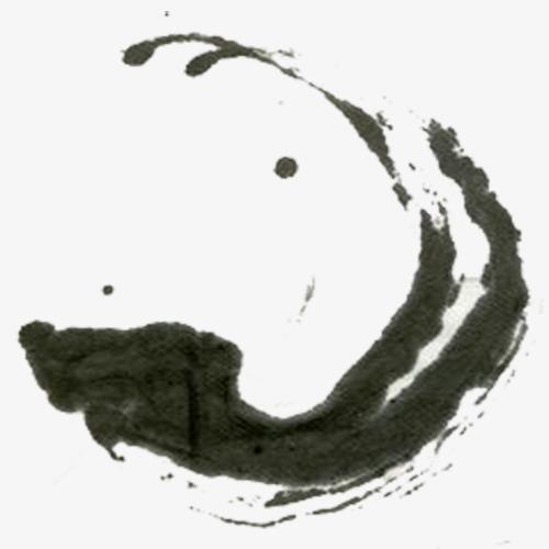 中国风毛笔笔画免扣素材