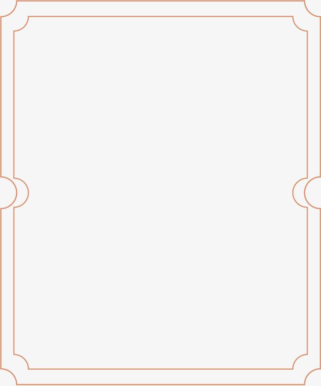 矢量手绘线条边框