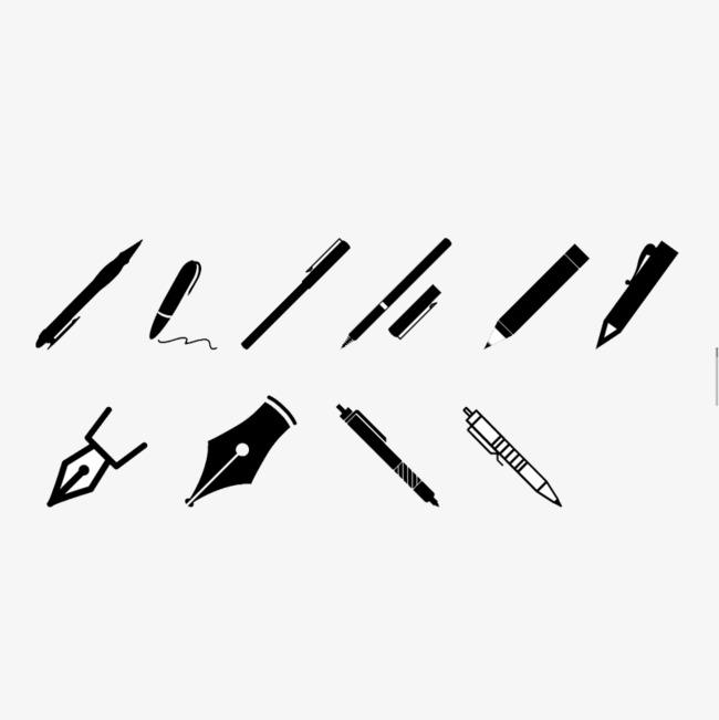 钢笔写字_创意钢笔png素材-90设计图片