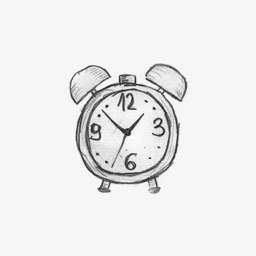 铅笔手绘闹钟