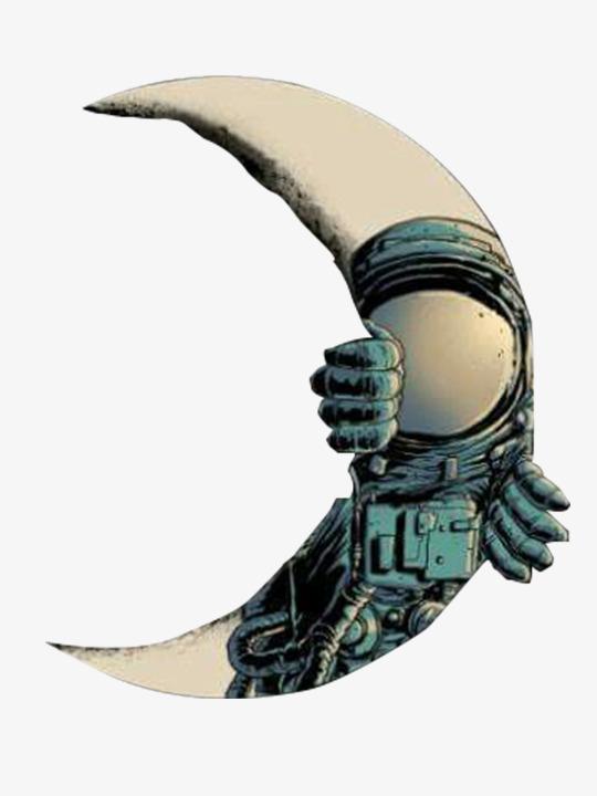 同构月亮创意图案图片