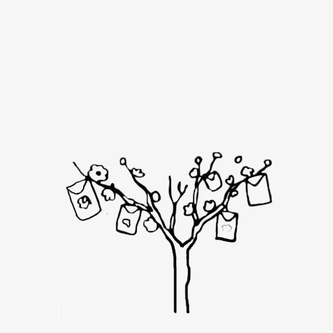 手绘简笔画树
