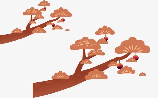 松树卡通画图片
