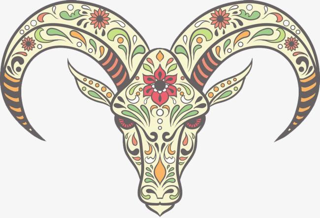 创意鹿头手绘图案