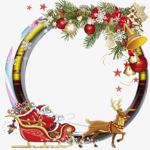 圆形圣诞节边框