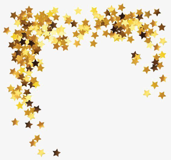 金色星星【高清装饰元素png素材】-90设计