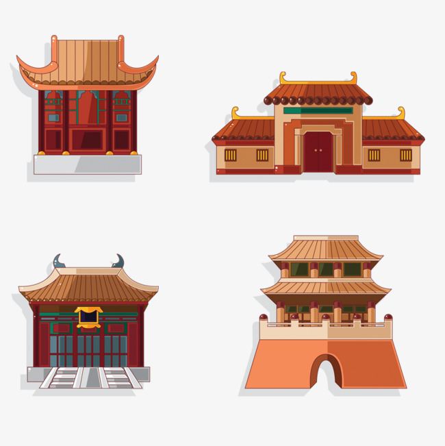手绘房屋建筑素材图片免费下载 高清效果元素psd 千库网 图片编号