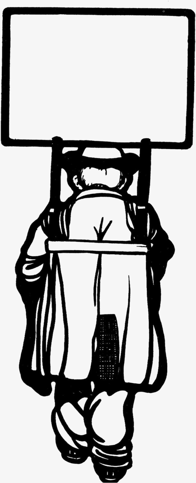 人物背景黑白插图