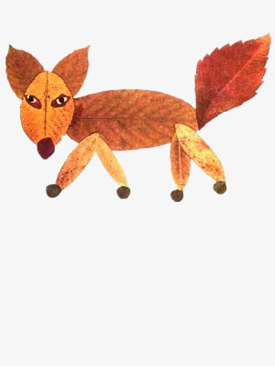 树叶  红色  动物  拼凑             此素材是90设计网官方设计出