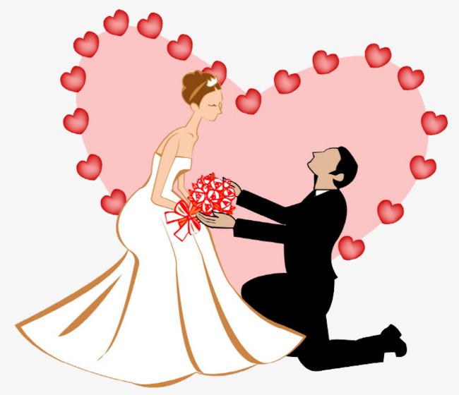 新郎和新娘png素材-90设计