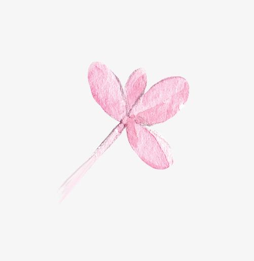 超唯美清新森系手绘粉色花朵