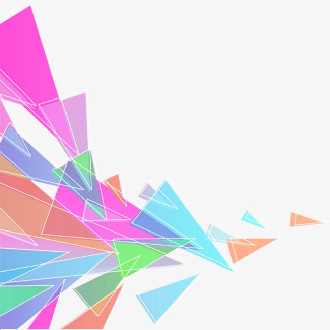 三角形创意装饰png素材-90设计