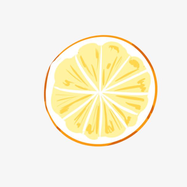 手绘橙子片