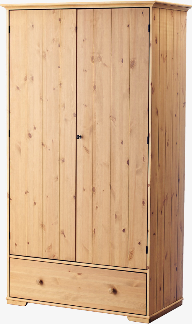手绘木式衣柜