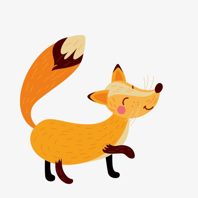 手绘狐狸素材图片免费下载 高清卡通手绘psd 千库网 图片编号5481779