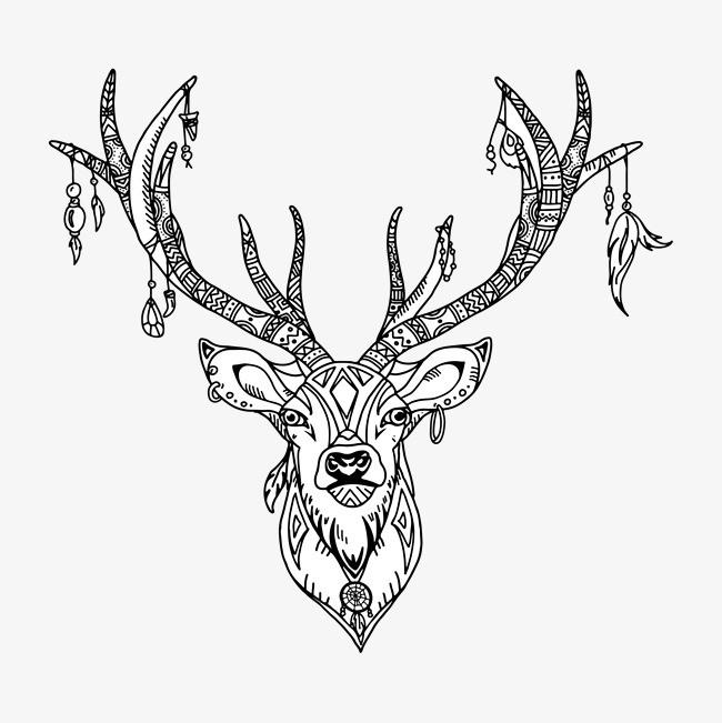 麋鹿宝宝钩针图解