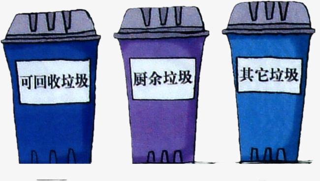 手绘垃圾桶
