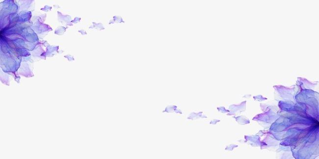 紫色漂浮的花瓣素材图片免费下载_高清png_千库网